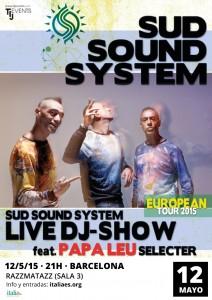 Concierto de Sud Sound System @ Razzmatazz (Sala 3)