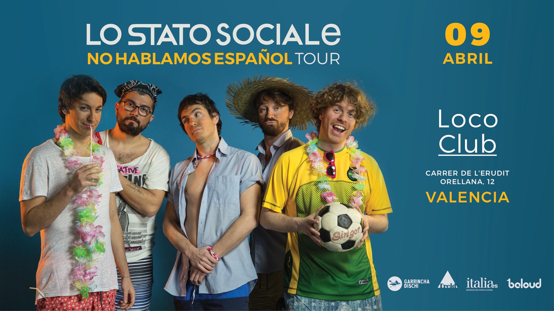 Lo Stato Sociale en Valencia
