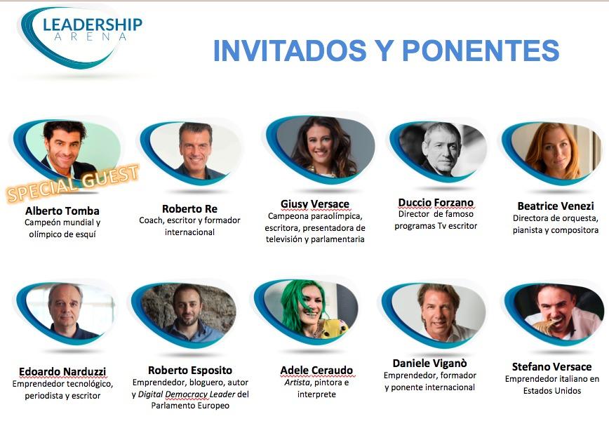 Invitados y Ponentes Leadership Arena