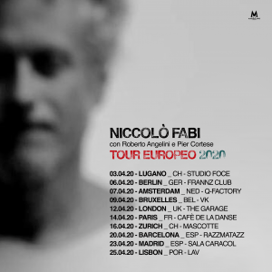 Niccolò Fabi en Barcelona (cancelado) @ Sala 3 Razzmatazz