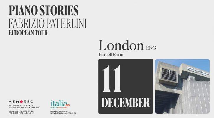 Fabrizio Paterlini - Piano Stories Tour - London